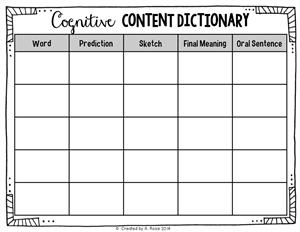 October - Cognitive Content Dictionary