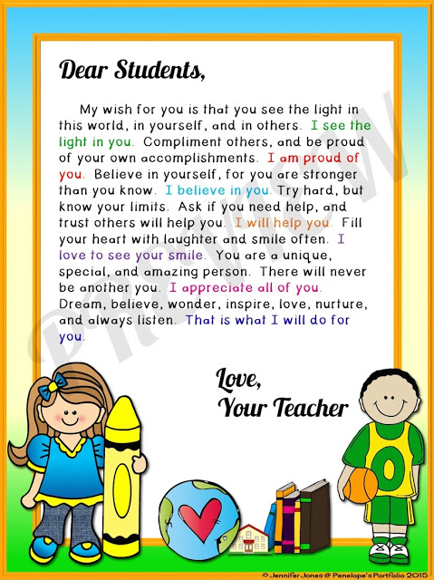 Wisdom, Ms. / Letter to my students